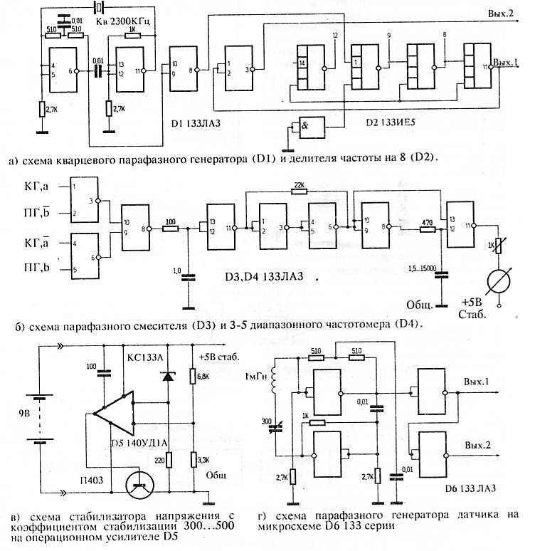 Рис. 2 Схемы индикаторов и их